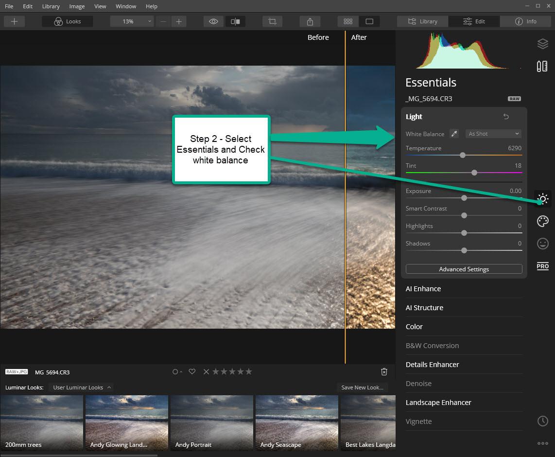 Luminar Workflow - Step 2
