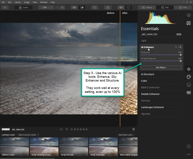 Luminar Workflow - Step 3