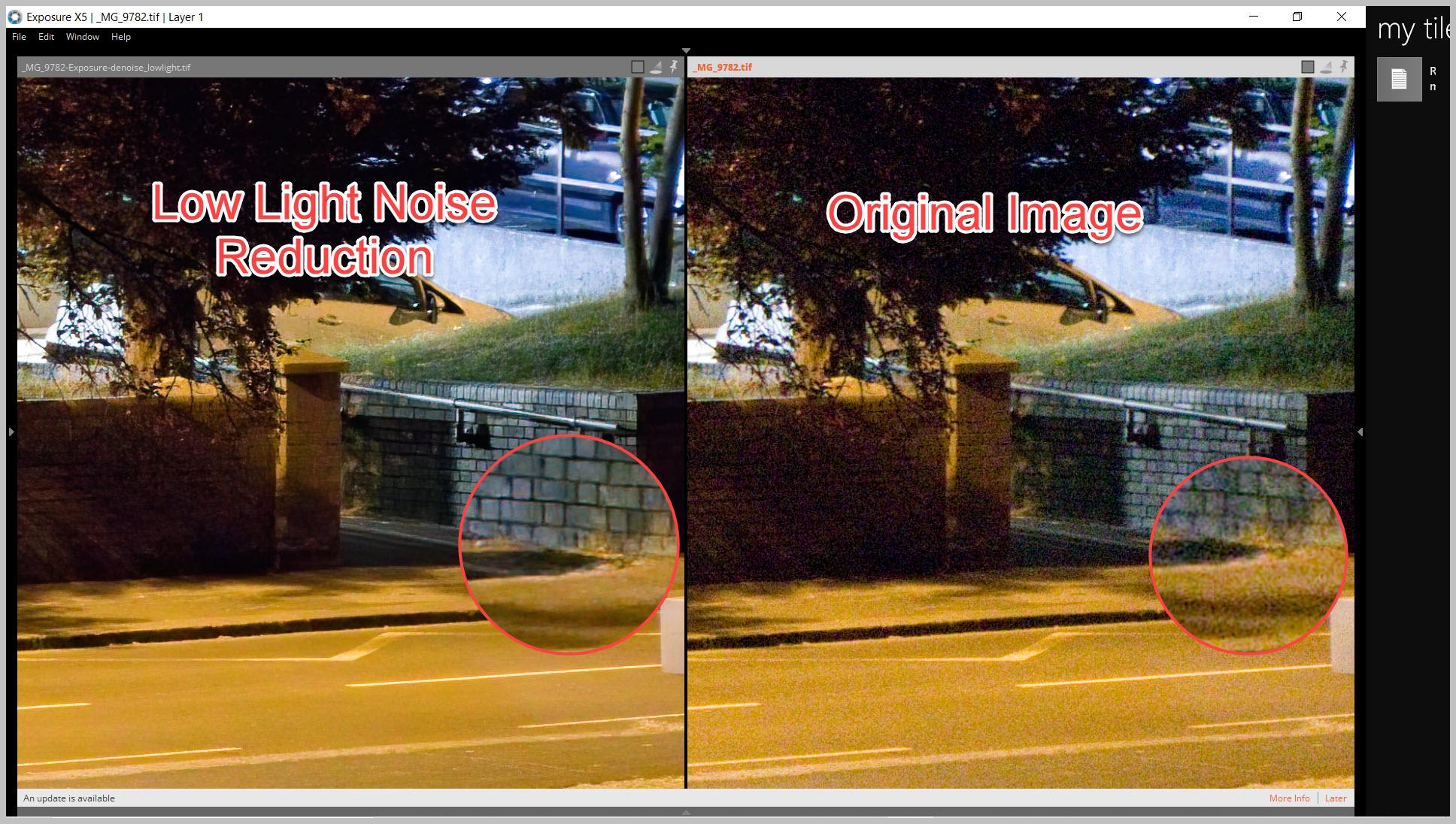 Noise Reduction - Low Light