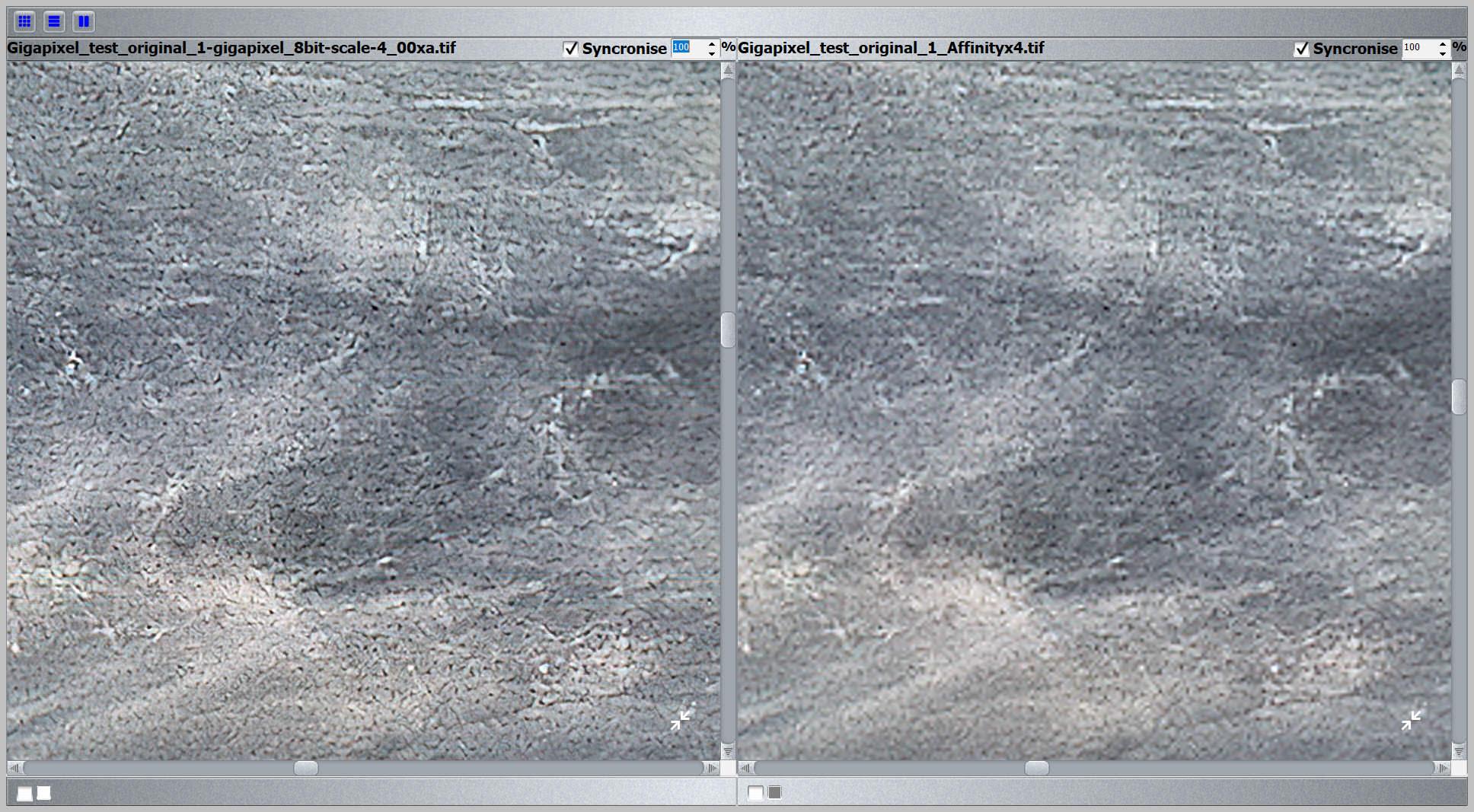 Gigapixel vs Bicubic 400% test
