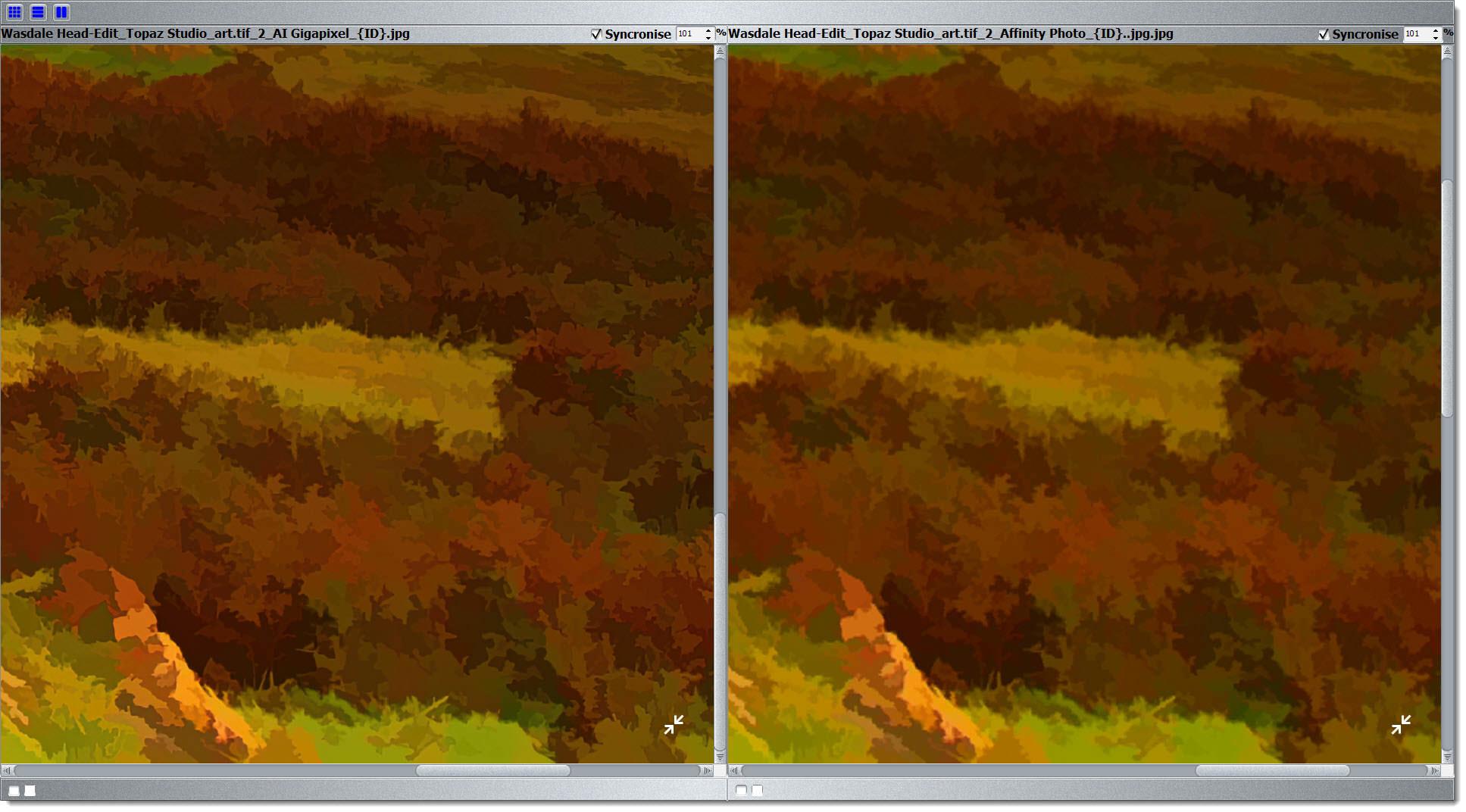Gigapixel 5.3 vs Bicubic