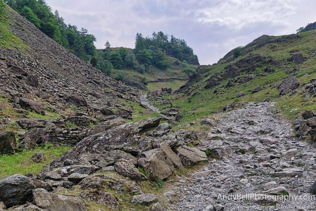 The path towards Castle Crag - AI Gigapixel Test