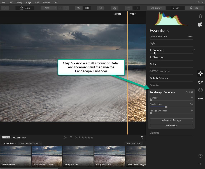 Luminar Workflow - Step 5