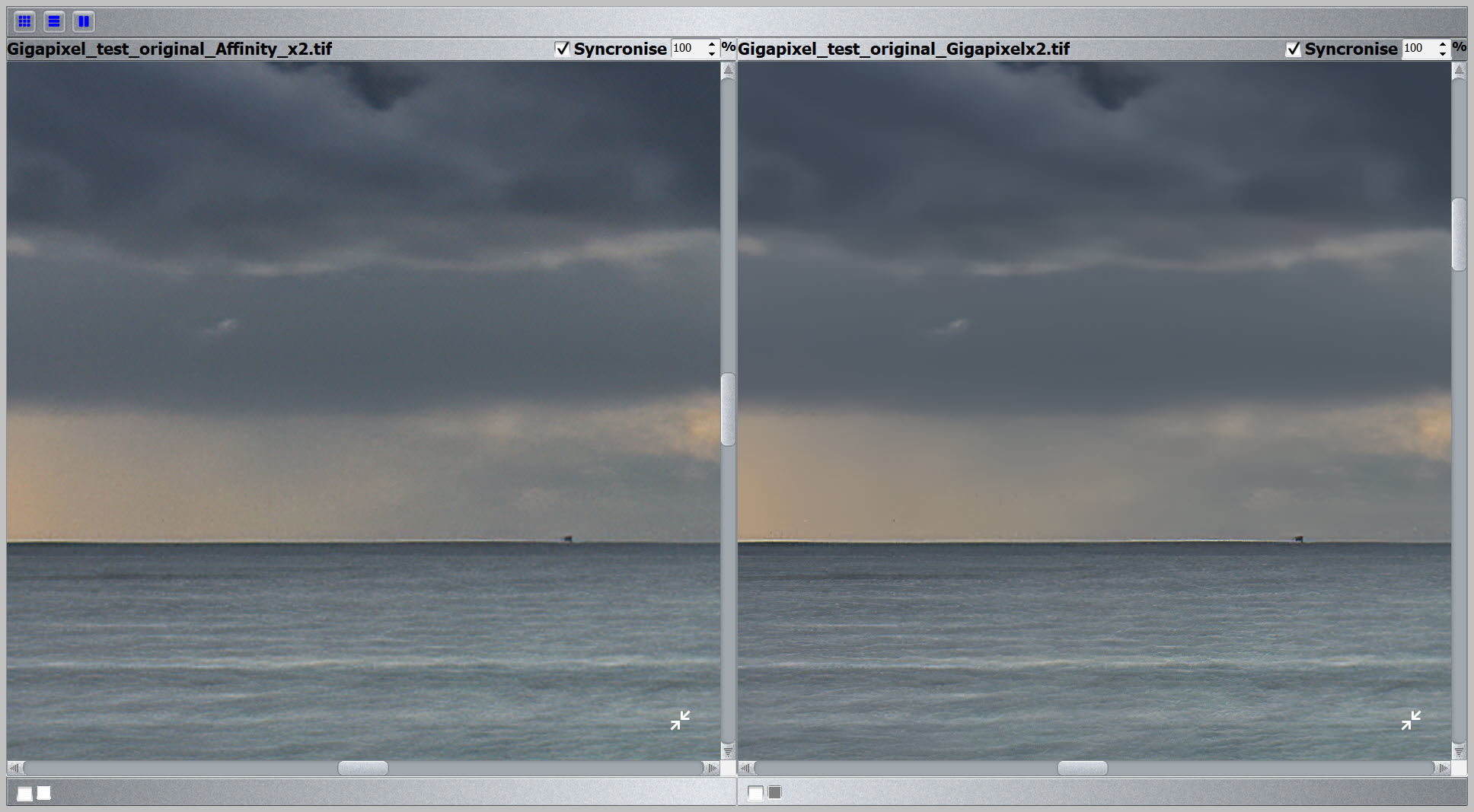 Gigapixel vs Bicubic 200% test