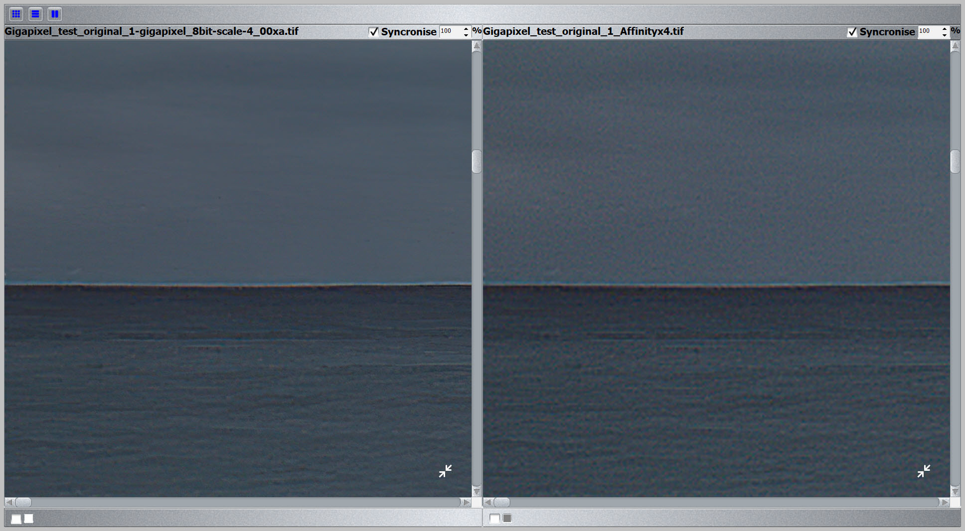 Gigapixel vs Bicubic 400% test